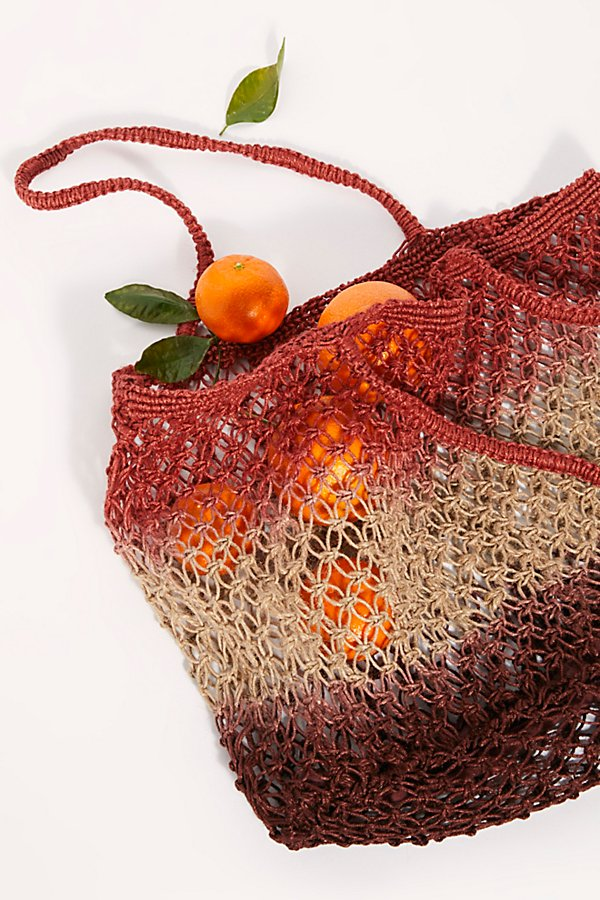Slide View 4: Wild Flower Ombre Jute Tote