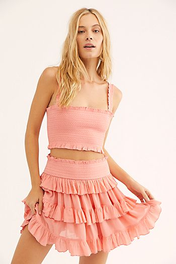 504a76a41 Crop Top and Skirt Sets   More