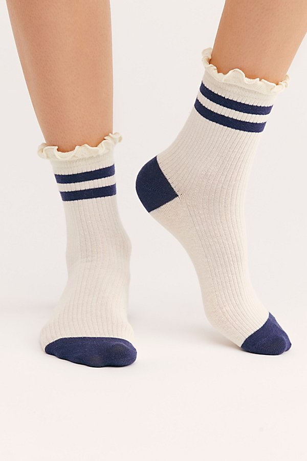 Slide View 2: Ruffle Sport Stripe Socks