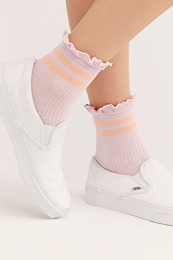 Ruffle Sport Stripe Socks