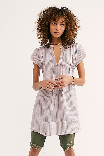 River Linen Stripe Tunic
