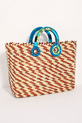 Nannacay Multicolored Straw Tote