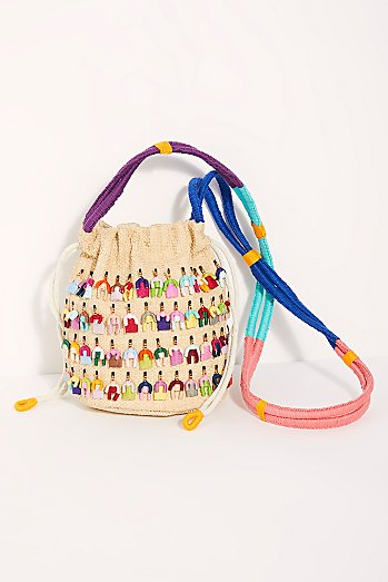 Nannacay Nolana Colorful Bucket Bag
