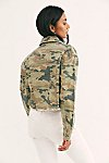 Thumbnail View 2: Camo Printed Cropped Denim Jacket