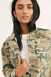 Thumbnail View 4: Camo Printed Cropped Denim Jacket