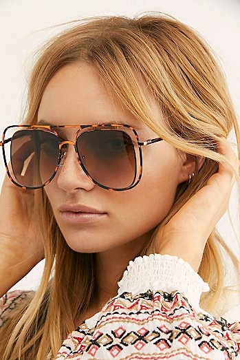 Stevie Oversized Aviator Sunglasses