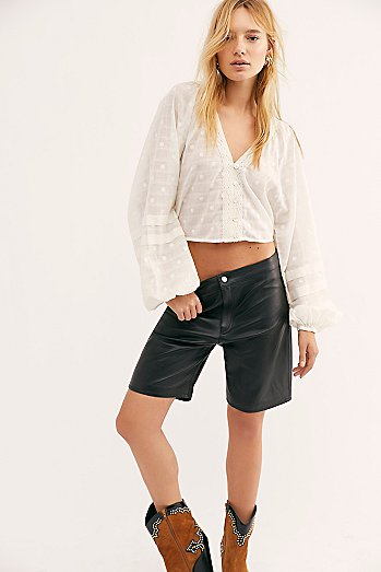 Hailey Leather Bike Shorts