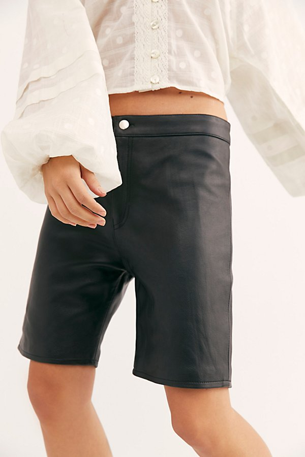 Slide View 4: Hailey Leather Bike Shorts