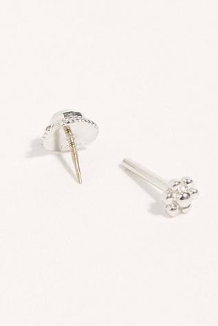 3mm Opal Braided Threaded Stud Single Earring by Maria Tash