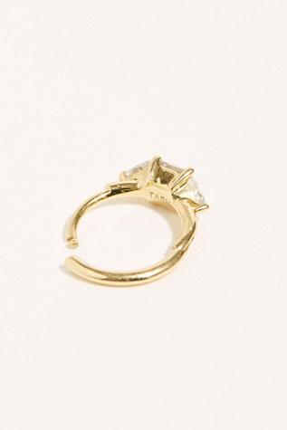 8mm Princess + Trillion Diamond Clicker Single Hoop Earring by Maria Tash
