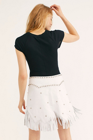 Howdy Leather Skirt by Understated Leather