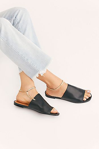 32ed35b174d Leather Slide   Slip On Sandals for Women