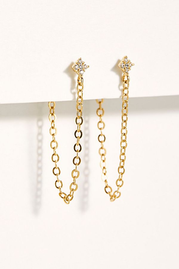 4791a13a2d404 Shimmering Star Chain Earrings