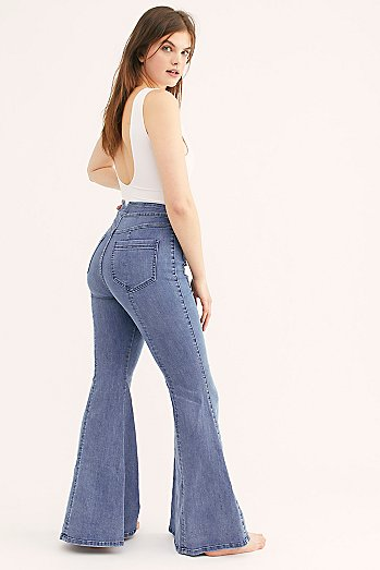 CRVY Utility Flare Jeans
