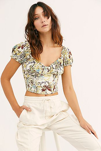7ed46cd2ed659 Cherry Bomb Printed Top