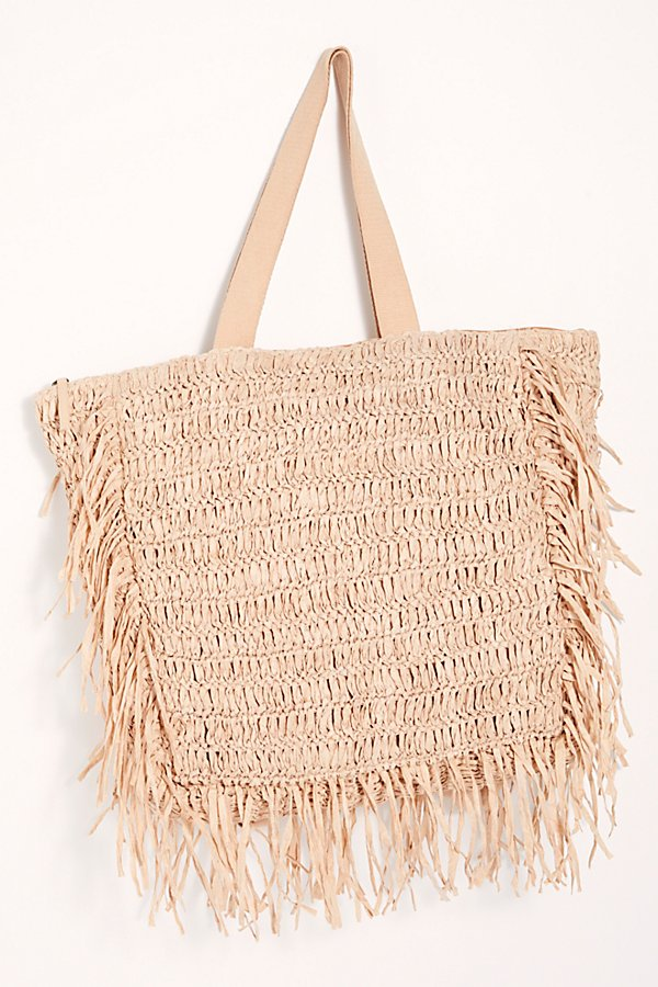 Slide View 3: Vacation Mode Straw Tote