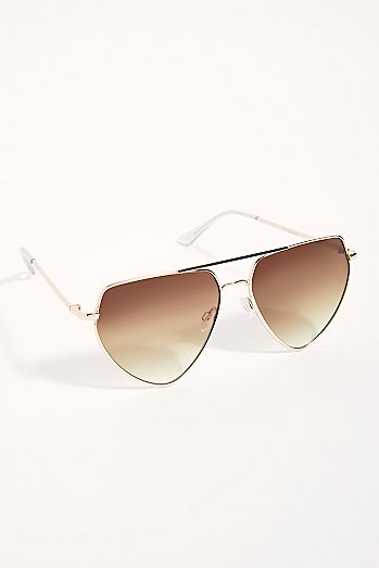Diamond In The Rough Aviator Sunglasses