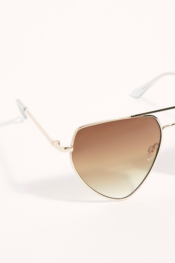 Slide View 4: Diamond In The Rough Aviator Sunglasses