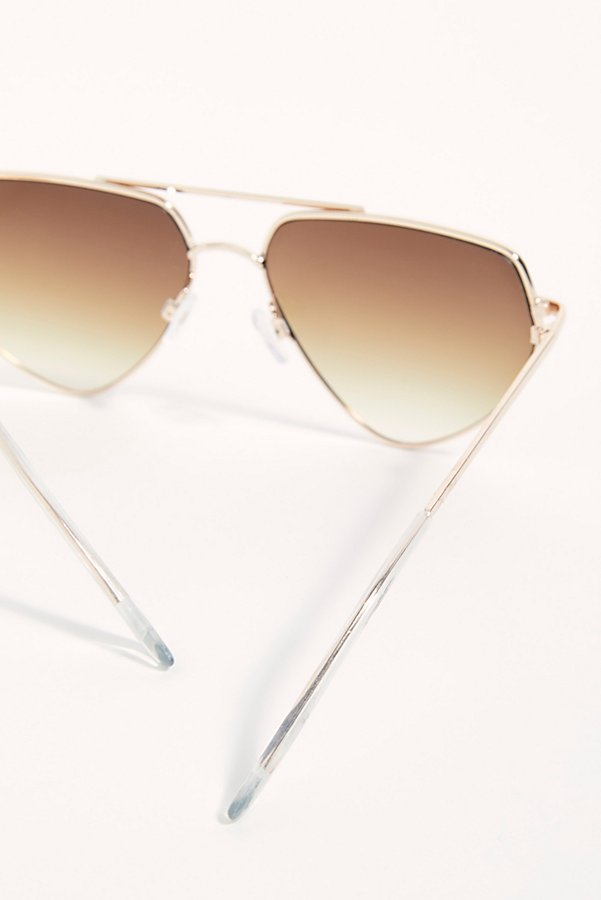 Slide View 5: Diamond In The Rough Aviator Sunglasses