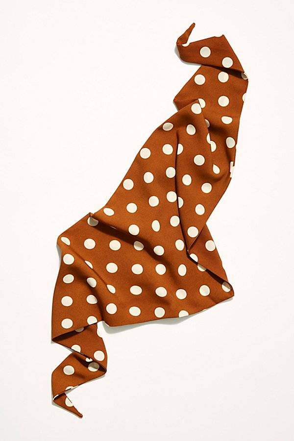 Slide View 3: Dot Print Triangle Bandana