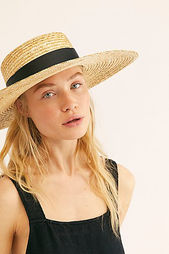 Palomino Straw Boater Hat