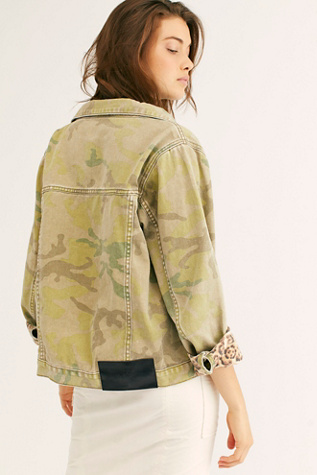 Safari Camo Bandits Jacket by One Teaspoon