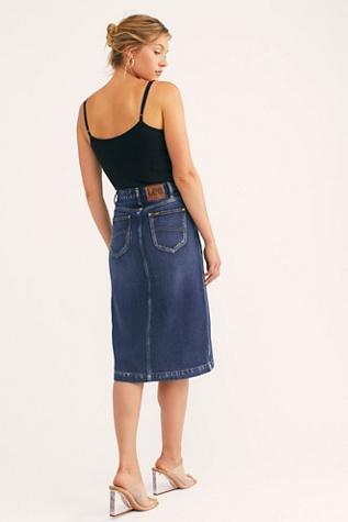 Lee High Rise A Line Midi Skirt by Lee