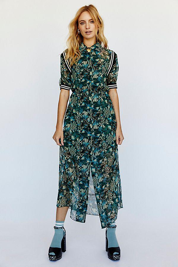 1516cc19f4cc Slide View 2: Coral Star Chiffon Maxi Shirt Dress