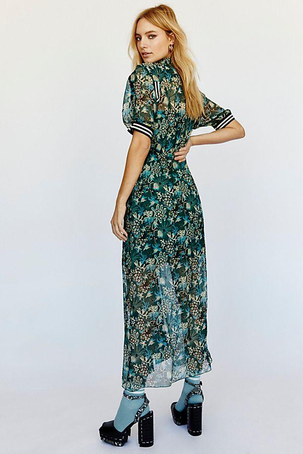 040b5d3ed001 Slide View 3: Coral Star Chiffon Maxi Shirt Dress