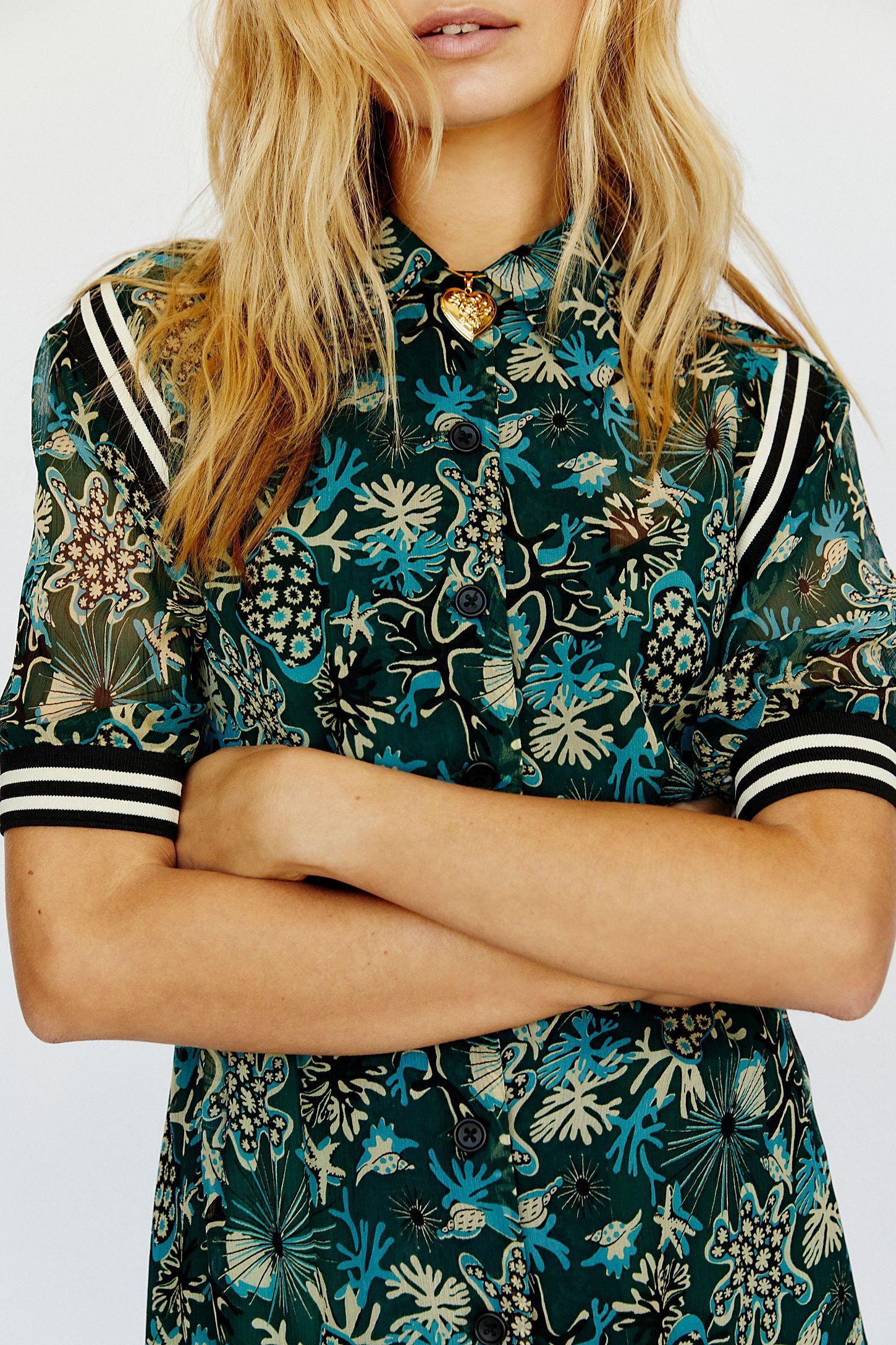 076d86812de0 Slide View 5: Coral Star Chiffon Maxi Shirt Dress