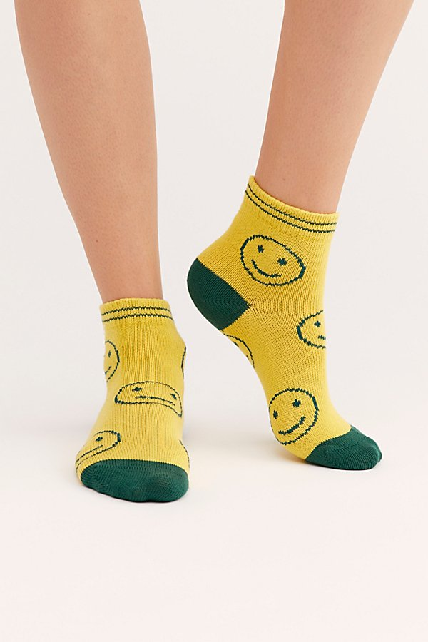 Slide View 1: Emoji Short Crew Socks