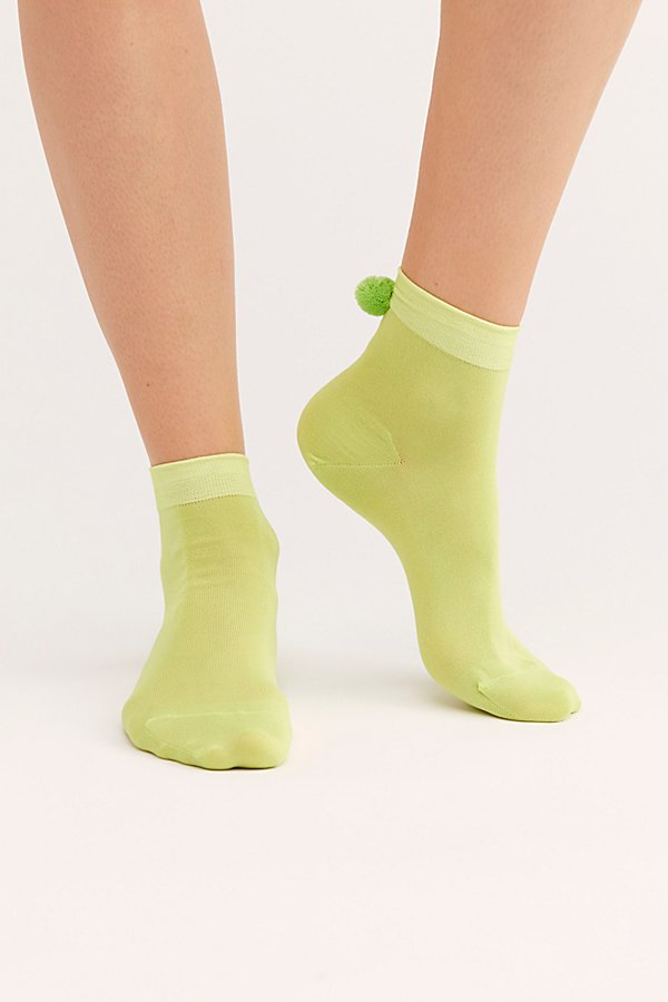 Slide View 2: Pom Pom Short Crew Socks