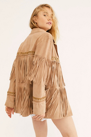 Fringe Embroidered Jacket by Brenda Knight