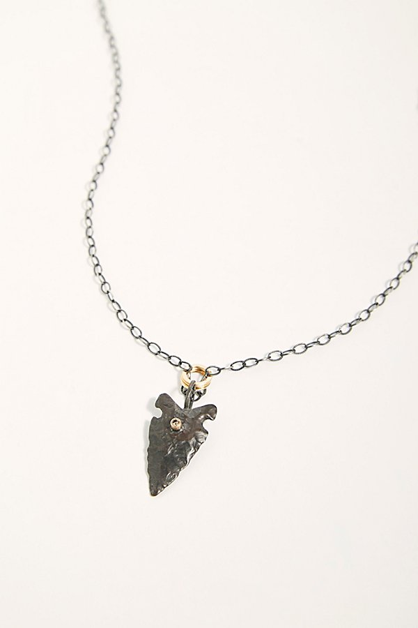 Slide View 2: Sterling Diamond Arrowhead Necklace
