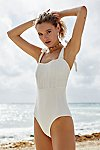Thumbnail View 2: Pintucked One-Piece Swimsuit