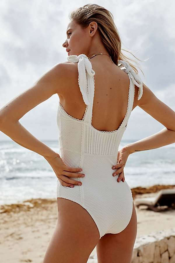 Slide View 3: Pintucked One-Piece Swimsuit
