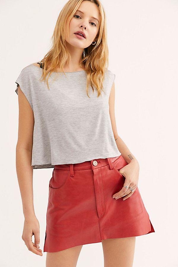 642f07a479 Slide View 1: Vanguard Leather Mini Skirt
