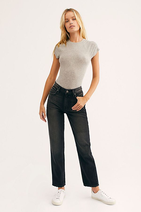authorized site new photos another chance Lee High Rise Straight Ankle Jeans