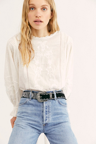 Iris Embroidered Western Belt by Free People