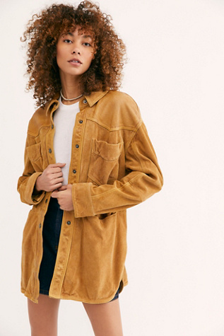 Lucky Chance Suede Shirt Jacket by We The Free