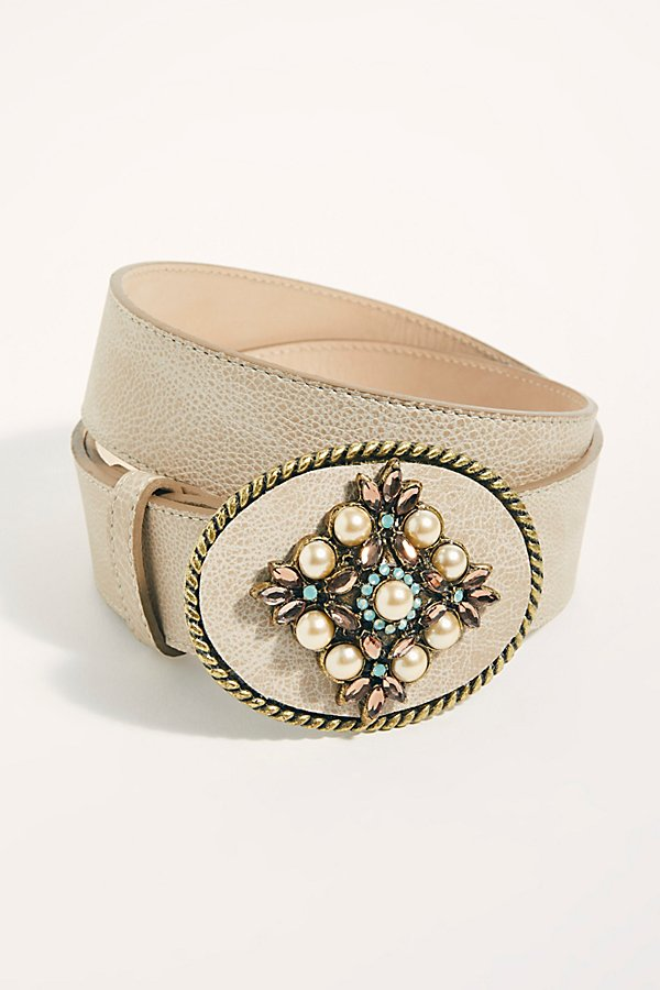 Slide View 2: Embellished Pearl Western Belt