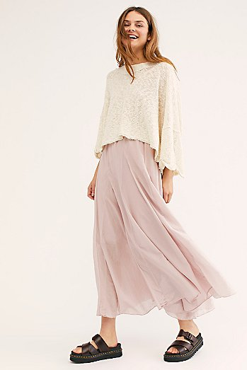 Lily Cotton Silk Maxi Skirt
