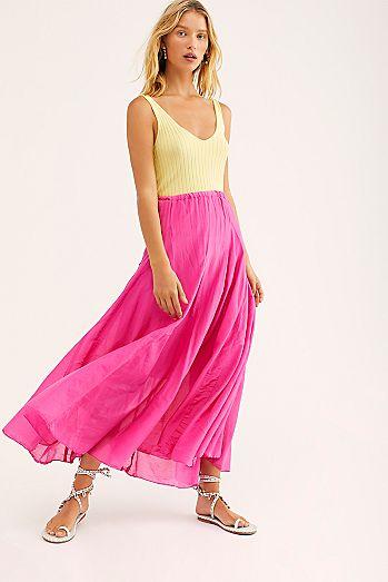 ee1707cb20c Lily Cotton Silk Maxi Skirt