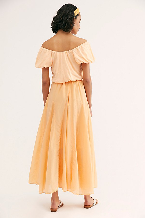 Slide View 2: Lily Cotton Silk Maxi Skirt