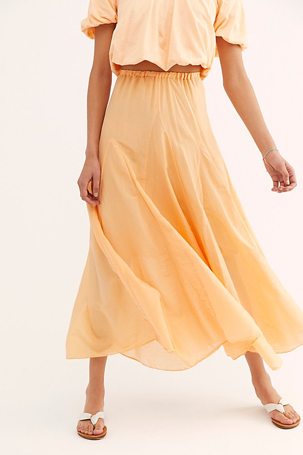 Slide View 3: Lily Cotton Silk Maxi Skirt