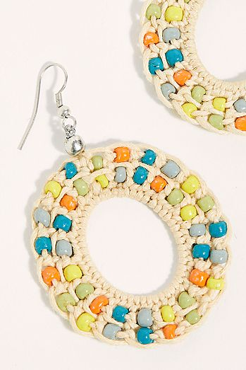 53770c1748d750 Island Hopping Hoop Earrings