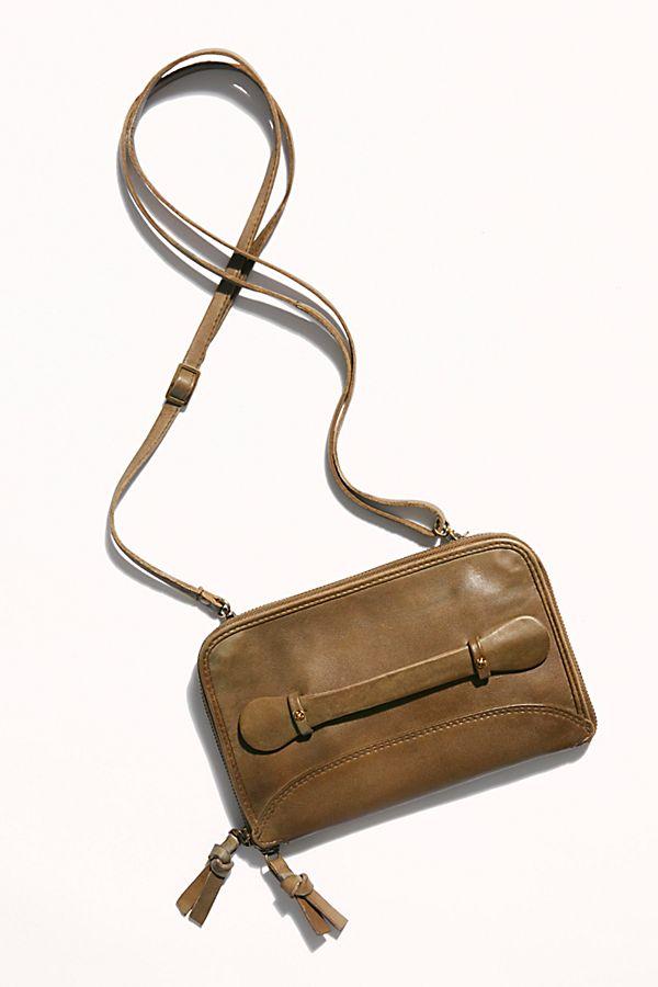 Tan Leather We The Free NEW Free People Vintage Distressed Tote Handbag
