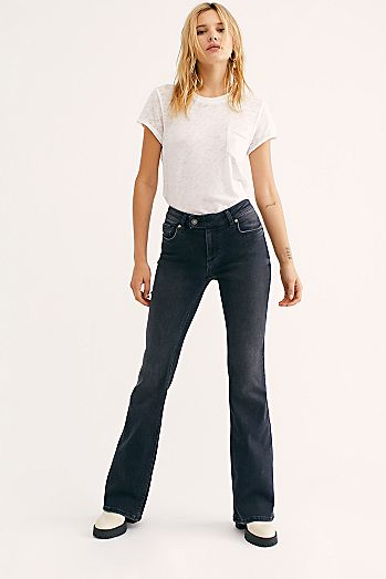 ladies front patch pocket jeans