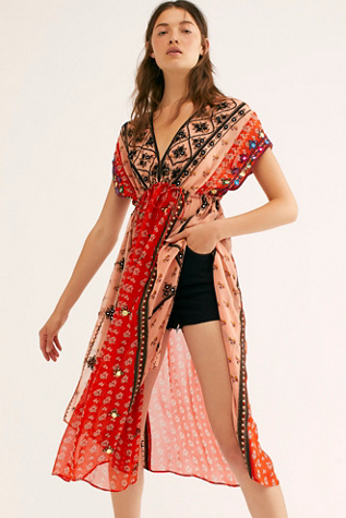 Smiling Sun Embroidered Maxi Top by Free People