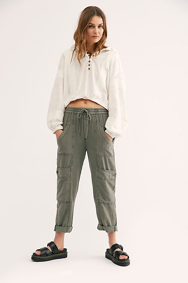Feelin' Good Utility Pull On Pants by Free People